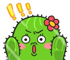 Fat cute cactus sticker #13481756