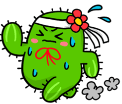 Fat cute cactus sticker #13481757