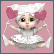 สติ๊กเกอร์ไลน์ Sugar Baby HUE: 3D animated ver.01