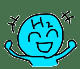 hydrogen man sticker #13487646