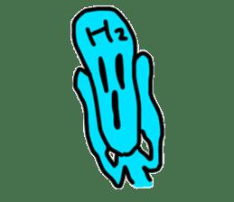 hydrogen man sticker #13487657