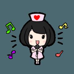 สติ๊กเกอร์ไลน์ Pretty nurse Sticker 3