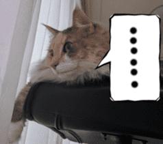 Instead tell the cat sticker #13489953