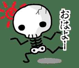 Cute skeleton sticker #13500998