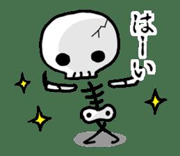 Cute skeleton sticker #13501004