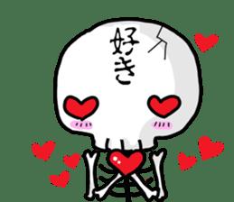 Cute skeleton sticker #13501005