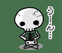 Cute skeleton sticker #13501026