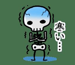 Cute skeleton sticker #13501032