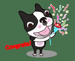 Animated Boston Terrier sticker #13501361