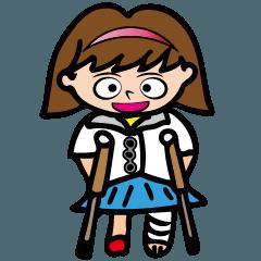 Hana-chan who have broken a leg