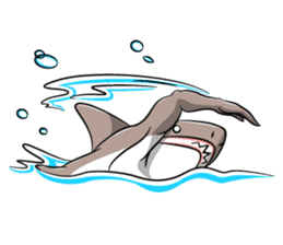 sexy shark boy sticker #13506998