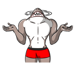 sexy shark boy sticker #13507011