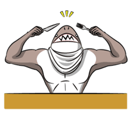 sexy shark boy sticker #13507017