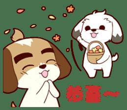 2 Shih Tzu Brothers V.2-Cheer Up! sticker #13523766