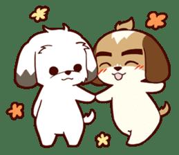 2 Shih Tzu Brothers V.2-Cheer Up! sticker #13523793