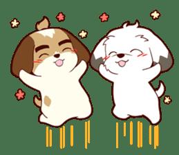 2 Shih Tzu Brothers V.2-Cheer Up! sticker #13523795