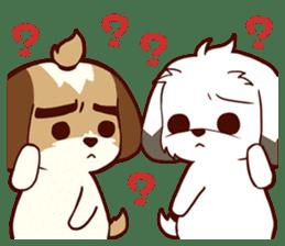 2 Shih Tzu Brothers V.2-Cheer Up! sticker #13523796
