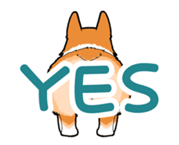 Rear of Corgi [Animation] Japanese Ver. sticker #13527424