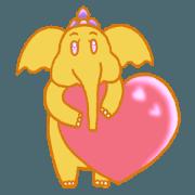 สติ๊กเกอร์ไลน์ ไอยรา ช้างแก้มป่อง