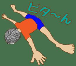 yoga boy sticker #13533139