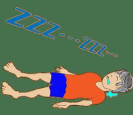 yoga boy sticker #13533141