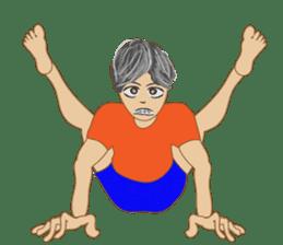 yoga boy sticker #13533149