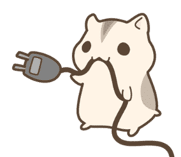 winsome hamster! sticker #13534490