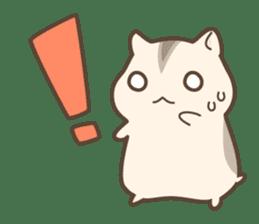 winsome hamster! sticker #13534523