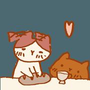 สติ๊กเกอร์ไลน์ Sweet Shop Cats : LOVE IS LOVE