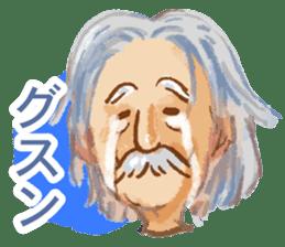Conversation of the old man sticker #13542609