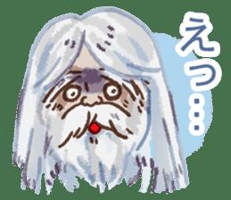 Conversation of the old man sticker #13542617