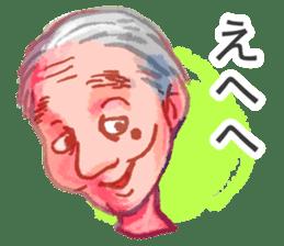 Conversation of the old man sticker #13542621