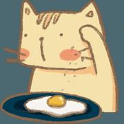 สติ๊กเกอร์ไลน์ Meow : The Lazy Cat