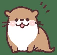 cute little otter sticker #13549006