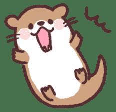 cute little otter sticker #13549007