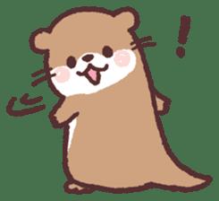 cute little otter sticker #13549008