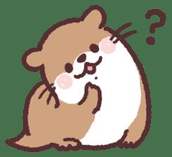 cute little otter sticker #13549009