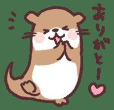 cute little otter sticker #13549010