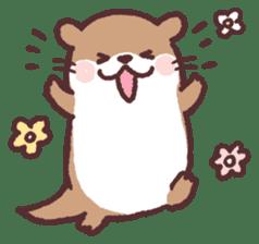 cute little otter sticker #13549011