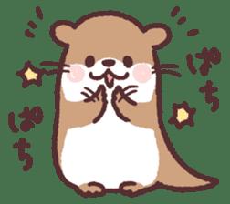 cute little otter sticker #13549012