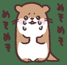 cute little otter sticker #13549014
