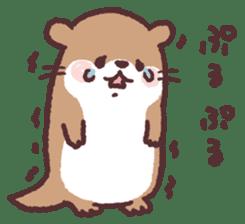 cute little otter sticker #13549015