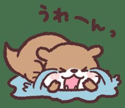 cute little otter sticker #13549016
