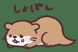 cute little otter sticker #13549017