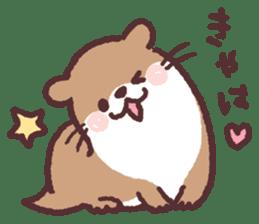 cute little otter sticker #13549018