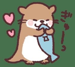 cute little otter sticker #13549019