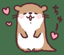 cute little otter sticker #13549020