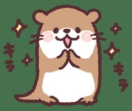 cute little otter sticker #13549021