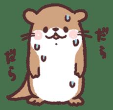 cute little otter sticker #13549022