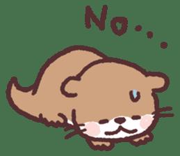 cute little otter sticker #13549023